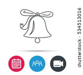 ringing jingle bell icon. sound ... | Shutterstock .eps vector #534513016