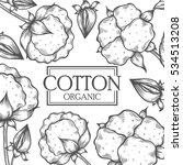 organic cotton shop bud leaf ... | Shutterstock . vector #534513208