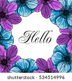 vector greeting card template.... | Shutterstock .eps vector #534514996