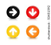 colorful web button with arrow... | Shutterstock .eps vector #53451592