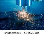 milling machine working on... | Shutterstock . vector #534520105