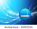 router button on blue abstract... | Shutterstock .eps vector #53452534