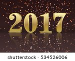 vector gold 2017 new year... | Shutterstock .eps vector #534526006