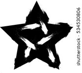 black textured star | Shutterstock .eps vector #534530806