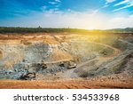 aerial view of opencast mining... | Shutterstock . vector #534533968