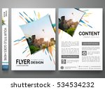 Portfolio design template vector.Minimal brochure report business flyers magazine poster.Abstract colorful fireworks on cover book presentation.City concept in A4 layout size. | Shutterstock vector #534534232