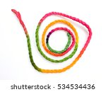 colorful rope isolated on white ... | Shutterstock . vector #534534436