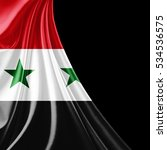 syria  flag of silk with... | Shutterstock . vector #534536575