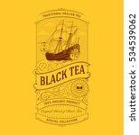 tea label vintage logo | Shutterstock .eps vector #534539062
