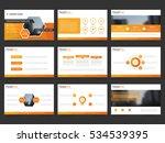 orange abstract presentation... | Shutterstock .eps vector #534539395
