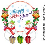 winter holiday label with... | Shutterstock .eps vector #534539542