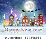 happy new year and merry...   Shutterstock . vector #534546958