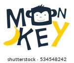 monkey head drawing for baby... | Shutterstock .eps vector #534548242