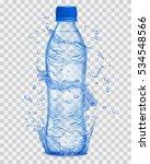 transparent water splashes in... | Shutterstock .eps vector #534548566