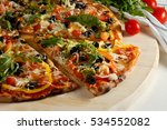 Vegetarian Pizza With...