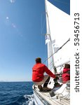 People On Sailing Boat On The...