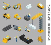 set isometric icons for... | Shutterstock .eps vector #534571642