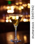 golden cocktail in a beautiful... | Shutterstock . vector #53457442