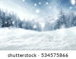 winter background of snow and... | Shutterstock . vector #534575866