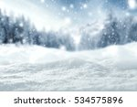 winter background of snow and... | Shutterstock . vector #534575896