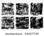 collection of grunge textures. | Shutterstock .eps vector #53457739