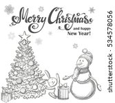 set of christmas icons....   Shutterstock .eps vector #534578056
