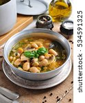 soup with mushrooms  corn flour ... | Shutterstock . vector #534591325