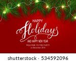 holidays greeting card for... | Shutterstock .eps vector #534592096