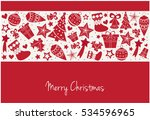 merry christmas greeting card... | Shutterstock .eps vector #534596965
