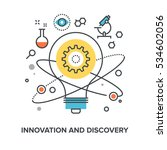 innovation and discovery | Shutterstock .eps vector #534602056