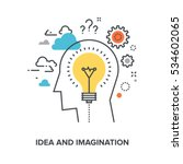 idea and imagination | Shutterstock .eps vector #534602065