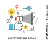 advertising and promo | Shutterstock .eps vector #534602128