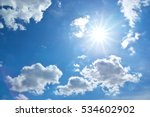 sun behind the cloud. nature...   Shutterstock . vector #534602902