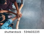 top view image of group of... | Shutterstock . vector #534603235