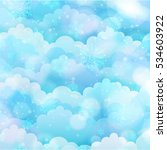 background winter sky | Shutterstock . vector #534603922