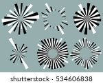 set 6 radial lines  rays  beams ... | Shutterstock .eps vector #534606838