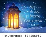 christmas greeting card with... | Shutterstock .eps vector #534606952