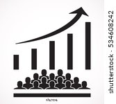 audience growth icon.  icon... | Shutterstock .eps vector #534608242