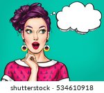 surprised young sexy woman with ... | Shutterstock . vector #534610918