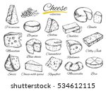 cheese collection. vector hand... | Shutterstock .eps vector #534612115
