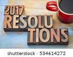 2017 resolutions word abstract... | Shutterstock . vector #534614272