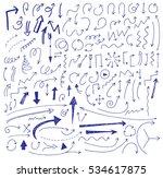 hand drawn vector arrows set. | Shutterstock .eps vector #534617875