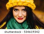 young brunette woman portrait... | Shutterstock . vector #534619342