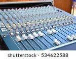 audio mixer and microphone | Shutterstock . vector #534622588