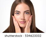 woman cosmetic closeup beauty... | Shutterstock . vector #534623332