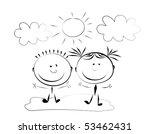 happy kids. | Shutterstock .eps vector #53462431