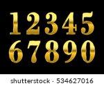 gold numbers set. golden... | Shutterstock .eps vector #534627016