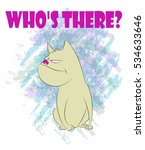 sitting bulldog on guard. comic ... | Shutterstock .eps vector #534633646