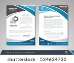 blue annual report brochure... | Shutterstock .eps vector #534634732