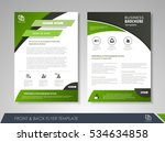 green annual report brochure... | Shutterstock .eps vector #534634858